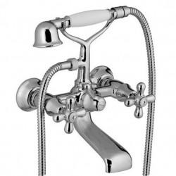 PONSI Viareggio 3 gatsmengkraan op badrand afwerkset en inbouwlichaam Chromé