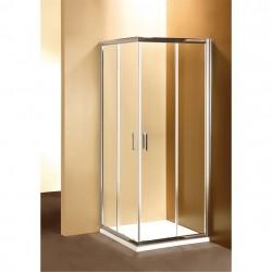ponsi paroi de douche carr avec porte coulissante 90x90 cm banio. Black Bedroom Furniture Sets. Home Design Ideas