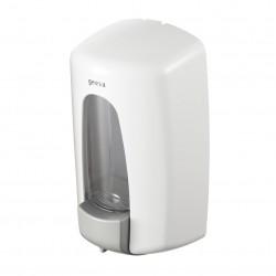 GEESA Distributeur de savon liquide, blanc NOUVEAU