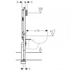 Bati Support Element Geberit Duofix Pour Wc Suspendu 114 Cm Avec