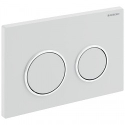 GEBERIT PLAQUE DE COMMANDE OMEGA20 GEBERIT 2-TOUCHES BLANC-CHROME