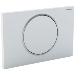 GEBERIT PLAQUE DE COMMANDE SIGMA 10 GEBERIT 1 TOUCHE CHROME-MAT/CHROME BRILLANT