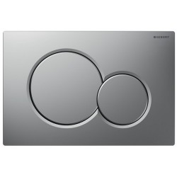 GEBERIT PLAQUE DE COMMANDE 2 TOUCHES SIGMA01 CHROME-MAT