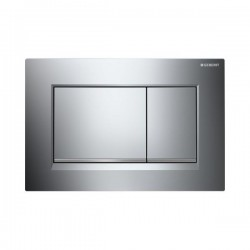 GEBERIT PLAQUE DE COMMANDE 2 TOUCHES SIGMA30 CHROME-BRILLANT