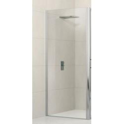 Novellini  lunes panneau fixe 84 dimension extensible de   84-90 cm verre trempe transparent  profilé blanc