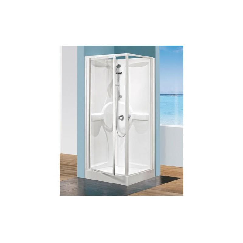 cabine de douche media 80x80cm t medg80t 1d. Black Bedroom Furniture Sets. Home Design Ideas