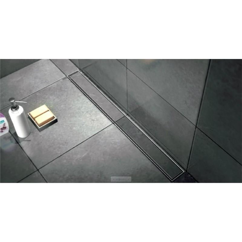 caniveau de douche de 160 hauteur de 7 cm avec cadre en inox avec pieds avec plaque de finition. Black Bedroom Furniture Sets. Home Design Ideas