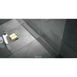 Caniveau de douche de  90 cm plaque de finition à carreler