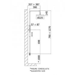 paffoni colonne de douche r glable en hauteur master plus avec inverseur support coulissant rond. Black Bedroom Furniture Sets. Home Design Ideas