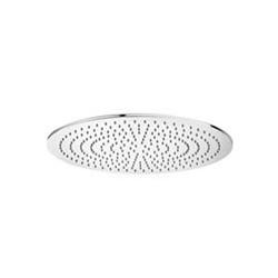 Paffoni Douche de tête TURBO ronde 1/2  en métal,diametre  400 mm, antitartre, épaisseur 8 mm, accessible pour nettoyage  Chrome