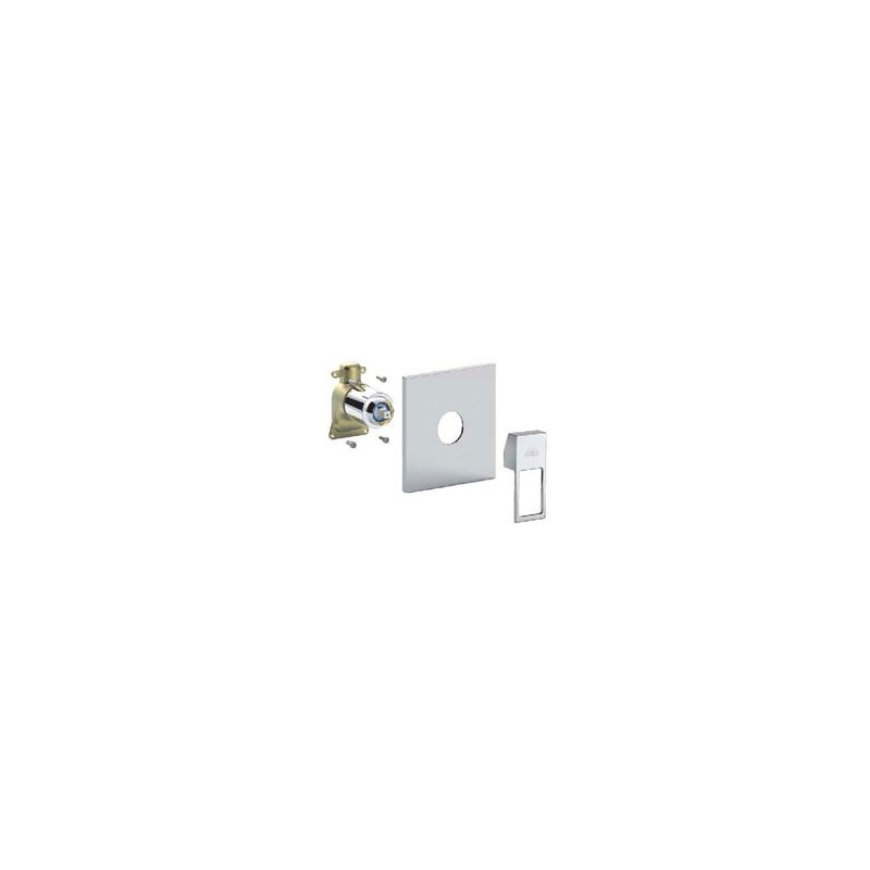 Paffoni elle kit d 39 installation pour robinet de douche sans inverseur avec poign e et plaque - Kit de douche sans robinetterie ...