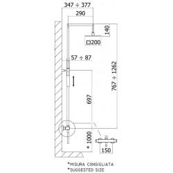paffoni colonne de douche syncro top r glable en hauteur. Black Bedroom Furniture Sets. Home Design Ideas