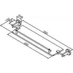 Damixa Salle de bain tablette en verre 600 mm chromé: 48271.00