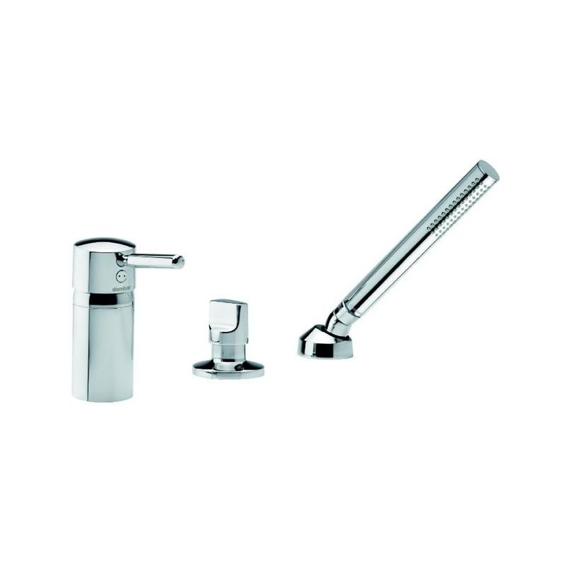 damixa salle de bain batterie 3 trous pour bain douche a combiner coulement externe chrom. Black Bedroom Furniture Sets. Home Design Ideas