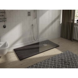 Receveur de douche minérale finition naturelle SOLID-HALLIOS de 70 X 120