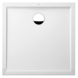 villeroy & boch Quaryl Douchebak in Quaryl  Quaryl Futurion Flat 90 x 90 x 2,5  cm