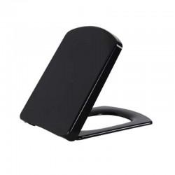 Banio design wc-zitting   zwart softclose inox scharnieren Duroplast