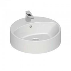 Banio-Design Lavabo rond diamètre 45 cm avec le trou du robinet