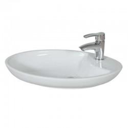 Banio Lavabo Ovale avec trou du robinet 65x40cm