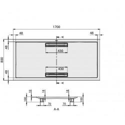 receveur quaryl simple receveur de douche receveurs de. Black Bedroom Furniture Sets. Home Design Ideas