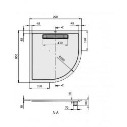villeroy boch quaryl receveurs de douche en quaryl squaro super flat 90 x 90 x 1 8 cm. Black Bedroom Furniture Sets. Home Design Ideas
