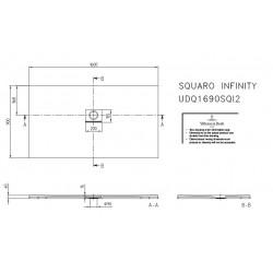 villeroy boch quaryl squaro infinty de 160 x 90 x 4 couleur edelweiss receveur de douche. Black Bedroom Furniture Sets. Home Design Ideas