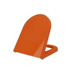 Banio-Bocchi design lunette  orange softclose charnière en inox Duroplast