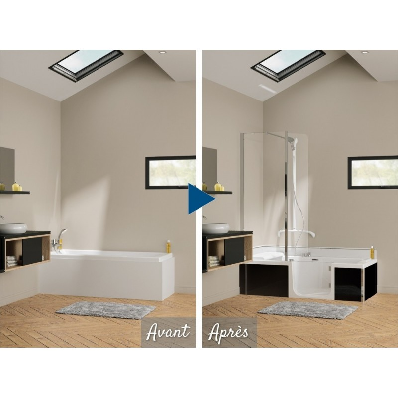 prix duo kinedo douche italienne pour cabine de douche. Black Bedroom Furniture Sets. Home Design Ideas