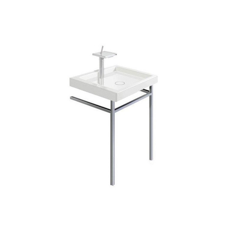 structure metallique Starck 1, chrome DURAVIT