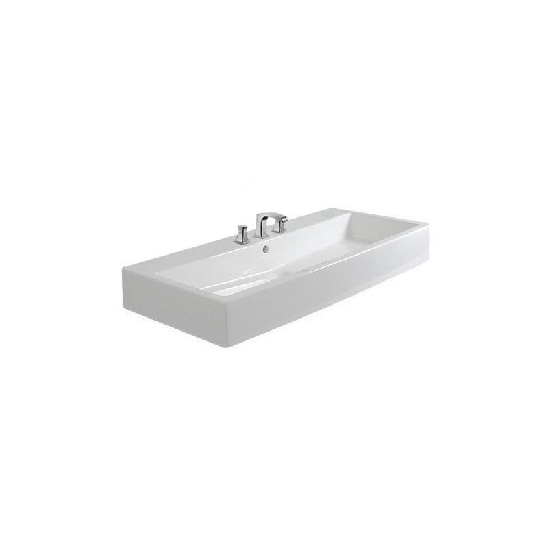 duravit vero lavabo 100 vero 3 tr blanc 04541000301. Black Bedroom Furniture Sets. Home Design Ideas