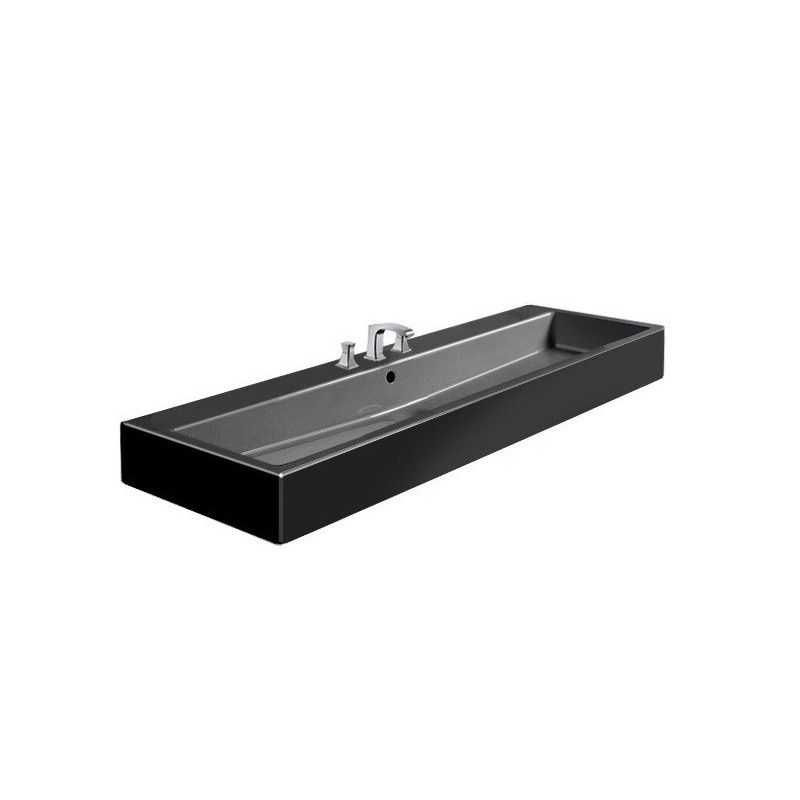 duravit vero lavabo 120 vero 3tr noir 0454120830. Black Bedroom Furniture Sets. Home Design Ideas