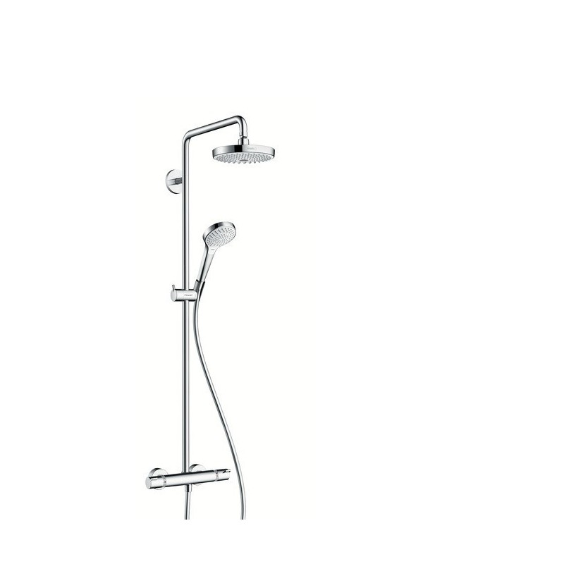 hansgrohe croma select s 180 showerpipe blanc et chome 27253400. Black Bedroom Furniture Sets. Home Design Ideas