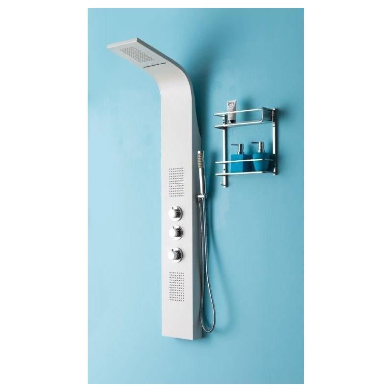 colonne de douche en blanche avec cascade thermostatique avec hydrojet hc71118. Black Bedroom Furniture Sets. Home Design Ideas