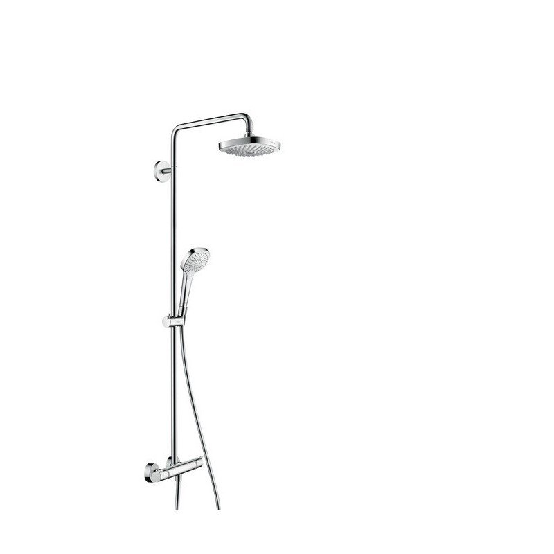 hansgrohe croma select e 180 2jet showerpipe white chrome. Black Bedroom Furniture Sets. Home Design Ideas
