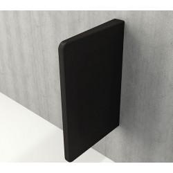 Banio Urinoir scheidingswand - Mat zwart