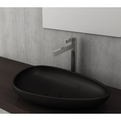 Banio Bocchi Etna ovaal wastafel 595x370 mat zwart