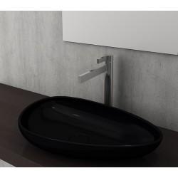 Banio Bocchi Etna ovaal wastafel 595x370 zwart
