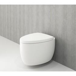 Banio Bocchi Etna ophang wc wit, met sproeier