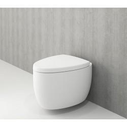 Banio Bocchi Etna ophang wc mat wit, met sproeier