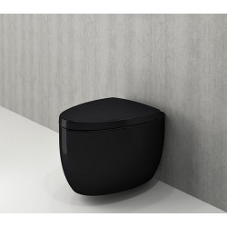 Banio Bocchi Etna ophang wc zwart, met sproeier