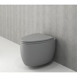 Banio Bocchi Etna ophang wc mat grijs, met sproeier