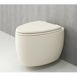 Banio Bocchi Etna ophang wc mat vanille, met sproeier