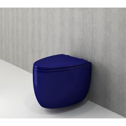 Banio Bocchi Etna ophang wc saphire blauw, met sproeier
