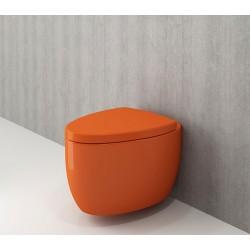 Banio Bocchi Etna ophang wc oranje, met sproeier