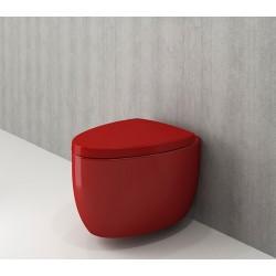 Banio Bocchi Etna ophang wc rood, met sproeier
