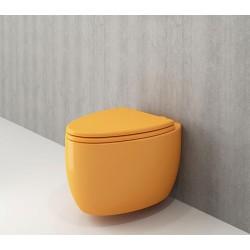 Banio Bocchi Etna ophang wc mandarijn, met sproeier