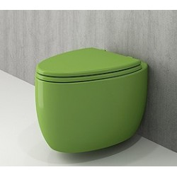 Banio Bocchi Etna ophang wc groen, met sproeier