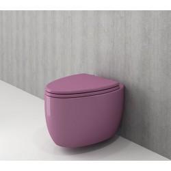 Banio Bocchi Etna ophang wc violet, met sproeier
