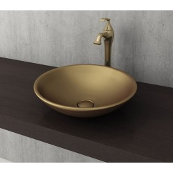 Banio Bocchi Lucca waskom 40cm mat goud