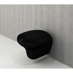 Banio Bocchi Fenice ophang wc zwart, met sproeier